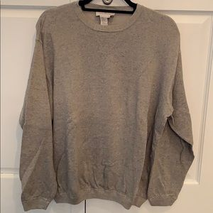 Ermenegildo zegna grey cotton sweater. Large